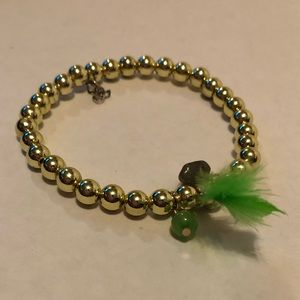 Boho Beaded Bracelet With Feathers